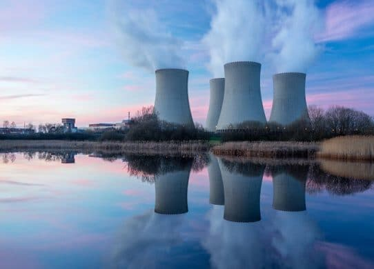 a-nuclear-power-plant-at-dusk