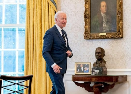 'It can't just be a coincidence' How Biden is using artwork to underscore his message to America