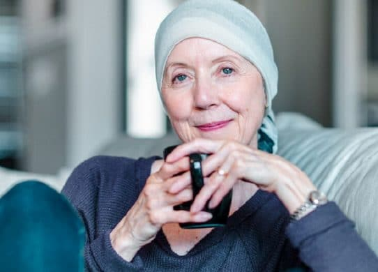 Portrait of a confident woman with cancer
