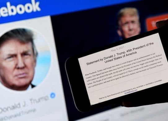 Facebook suspends Donald Trump for two years, citing 'severe violation' after Capitol riots !