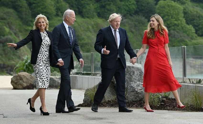 First lady Jill Biden wears 'LOVE' jacket to stand for 'unity' during UK visit !